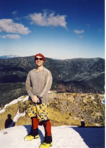 Bob on Mt. Garfield, March 15, 1995