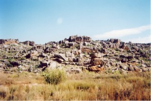 These sandstone blocks are found in all sorts of patterns in the Cederberg