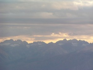 Sierras from White Mountain road