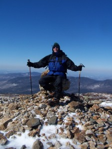 Victorious Bob on Mt. Eisenhower