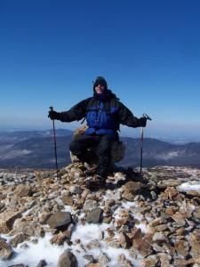 Victorious Bob on Mt. Eisenhower
