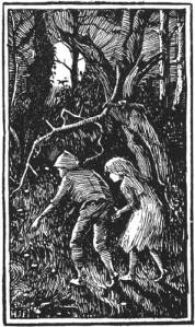 Hansel and Gretel / illustration by H.J. Ford