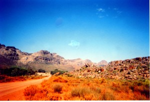The road between Calvinia and Clanwilliam