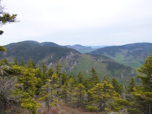 View across the Basin from shoulder of Mt. Meader