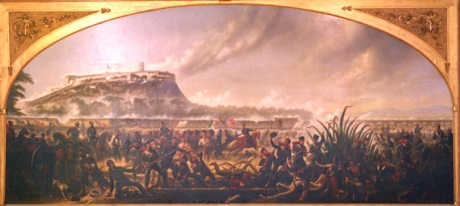 """The Battle of Chapultepec"" by James Worth.  This is the version that does not feature Pillow."