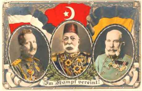 """Leaders of the WWI Central Powers: """"In struggle there is unity,"""" it says"""