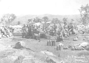 British naval gun at Pieters Hill, Natal