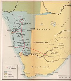 Southwest Africa Map.German South West Africa Endless Streams And Forests