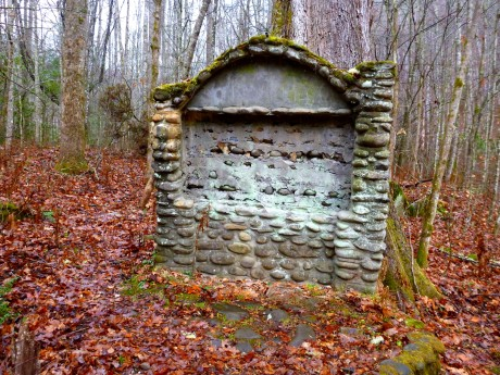 Water fountain from CCC camp that was here 1933-1942.