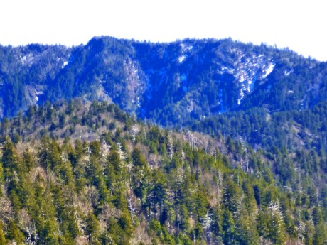 Telephoto view of Eagle Rocks.