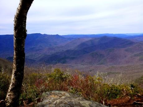 View northwest from Boteler Peak