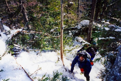 Bob climbs the Lions Head Winter Route on Washington.