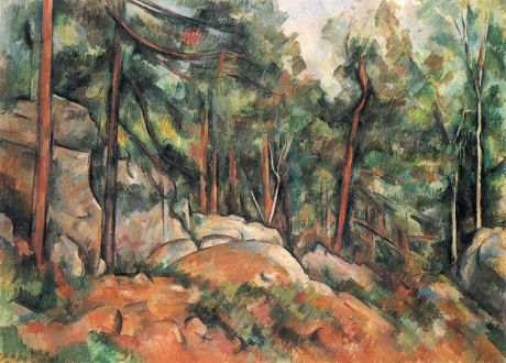 """In theWoods,"" Paul Cezanne, 1899. He was a favorite painter of my mother."