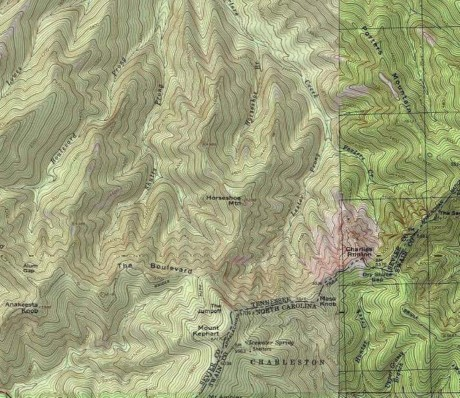 Area of Horseshoe Mountain.