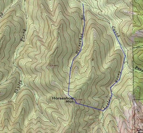 My route on Horseshoe.