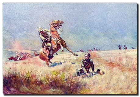 """South Africa August 21 1900."" Painting by B-P."
