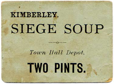 Kimberley ration ticket.