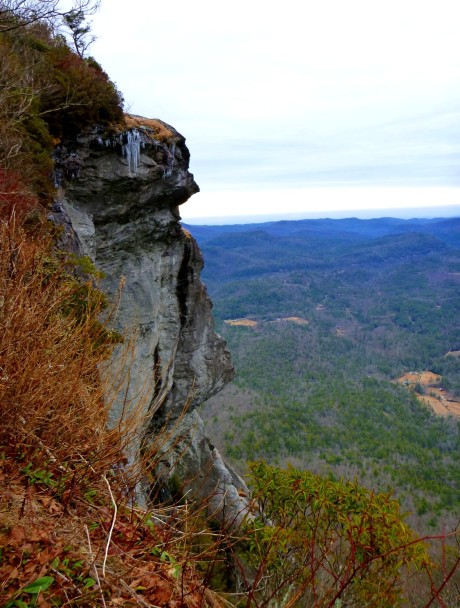 View from top of a rock climber's trail.
