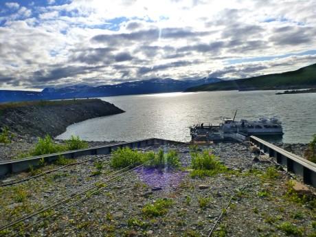 Boat departure point on Ahkkajaure.