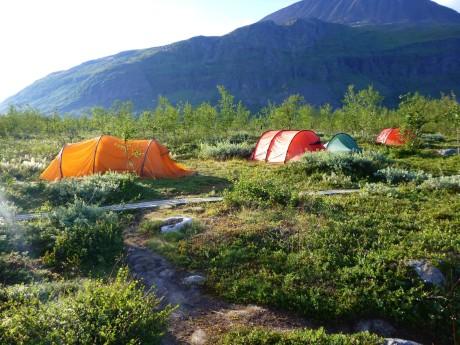 First campsite.