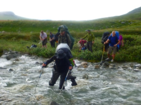 Our first stream crossing.