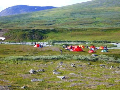 Our tent village.