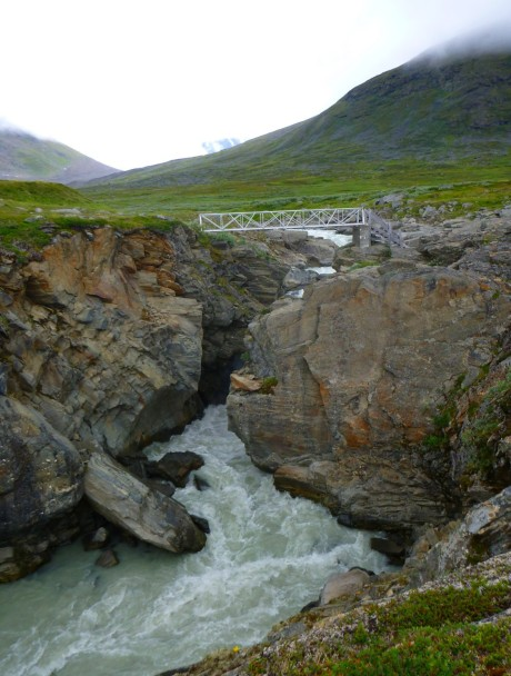 One of Sarek's two bridges. We were glad it was there.