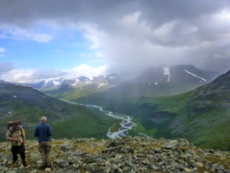 A half-sky of rain in Sarek.