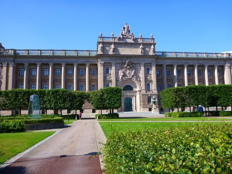 Rijksdaghuset (Parliament Building).