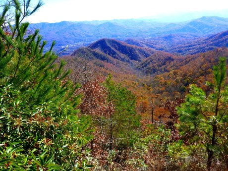 You can see Bryson City past the ridge.
