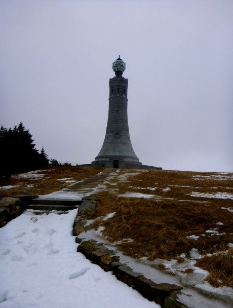 Monument at the summit of Mt. Greylock.