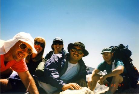 Happy mountaineers.