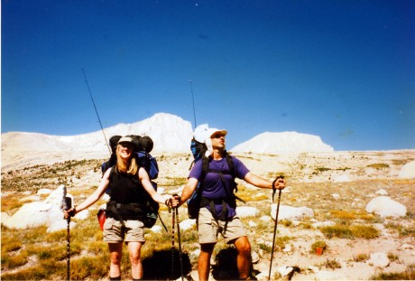 Bob and I with our fishing rods, which look like antennas in this photo.
