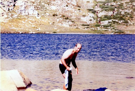 "Bob sets new personal record for ""Highest altitude swim."""