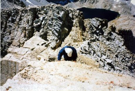 Bob approaches Mt. Muir summit.