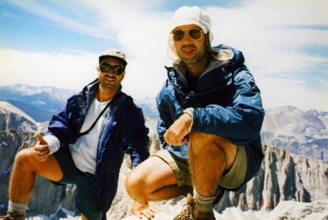 Steve and Bob on the tiny summit block of Muir.