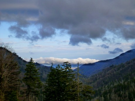 On my drive over---dramatic sky near Newfound Gap.
